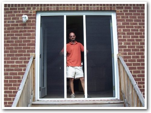 Sw howell contracting virginia beach screen doors for Can you put screens on french doors