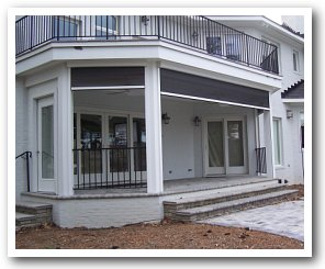 Power Retractable Screen Porch Motorized Porch Screen Virginia